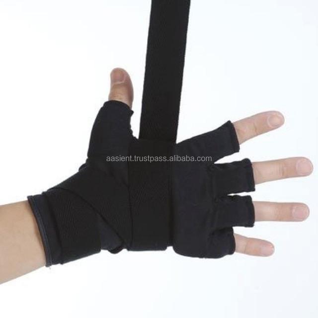 Liwein Bandes Boxe,4 Pcs Boxe Bandage /Élastiqu/é Mains Int/érieur Gants Mitaine pour Muay Thai MMA Sports de Combat 3m Rouge Noir