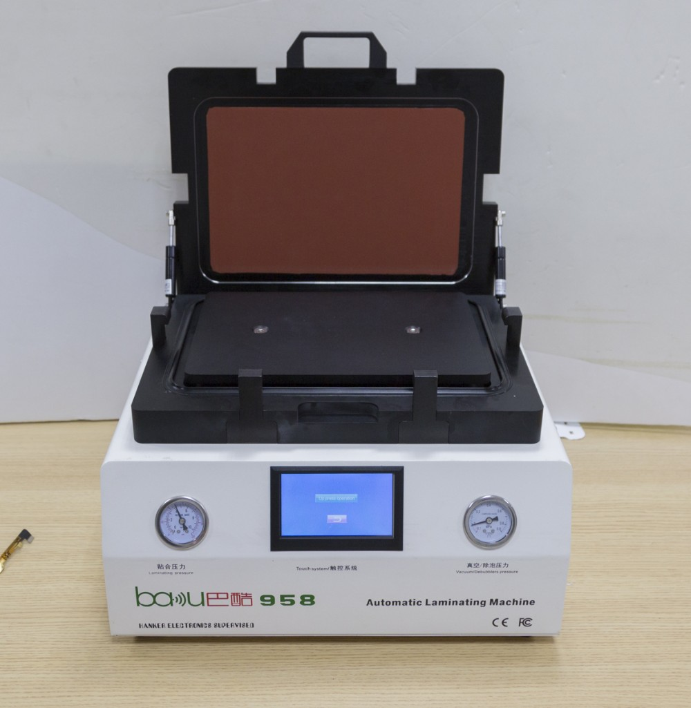 BAKU Discount Price Mini OCA LCD Laminating Machine All-in-one Automatic Bubble Removing LCD Vacuum Laminating Machine BK-958