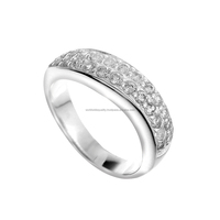CZ ring jewelry in 925 sterling silver jewelry german silver items