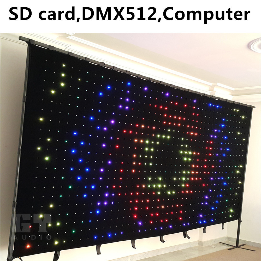 direct factory outdoor full color led display/China market led video curtain