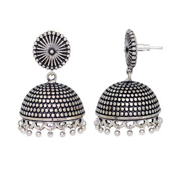 Jaipur Mart Wholesale Oxidised Earrings Silver Plated Jewelry Indian
