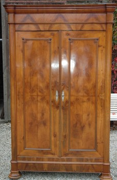 Stunning French Cherry Louis Philippe Armoire Wardrobe