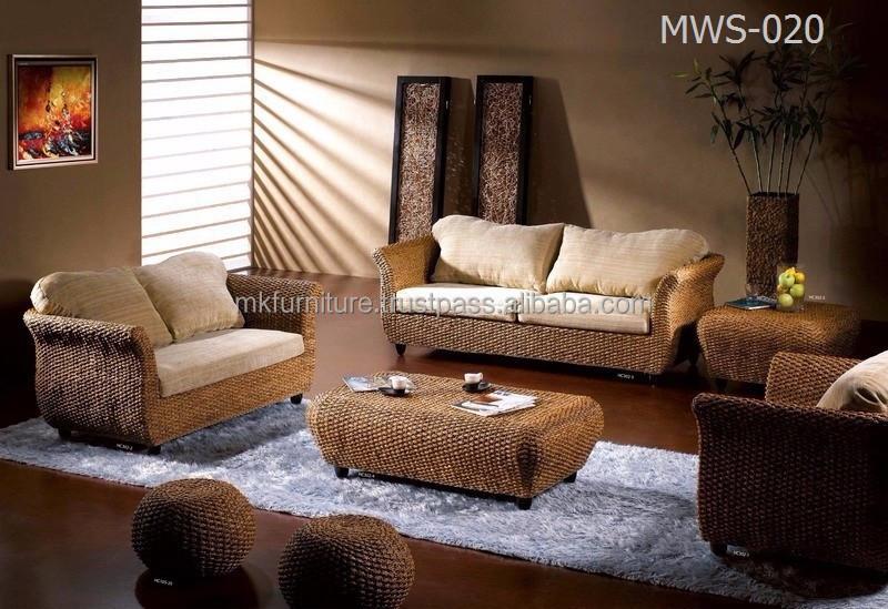 Muebles de Sala de estar de lujo de interior único ratán muebles ...