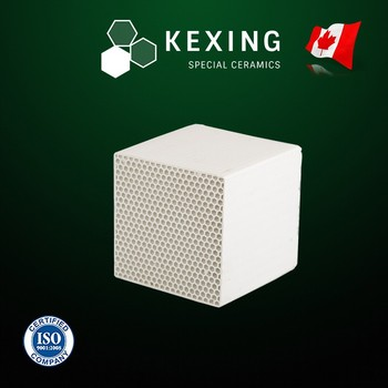 Loose Cordierite Monolith Honeycomb ceramic heat exchanger