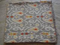 Handmade Twin Gray Paisley Kantha Quilt Cotton Throws,Ralli,Gudari REVERSIBLE Bedding