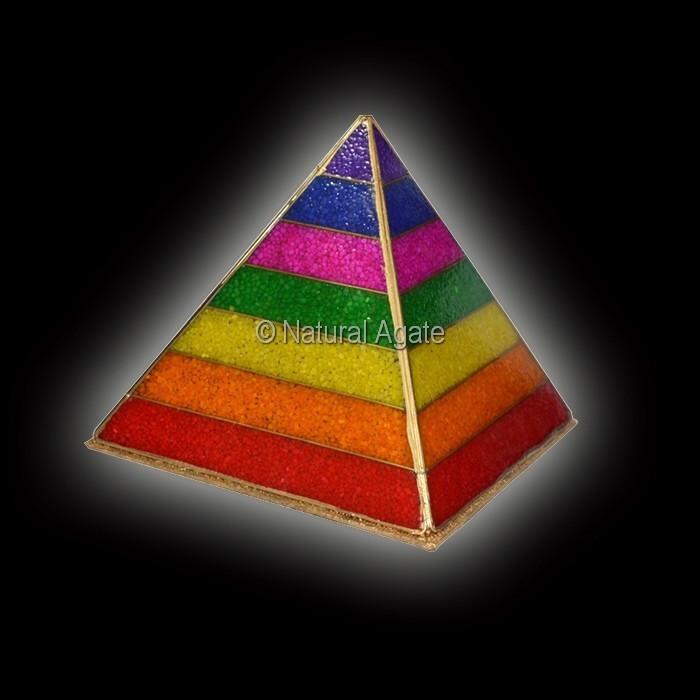 Orgone Chakra Chips Energy Lamp Pyramids : Gemstone Chakra ...