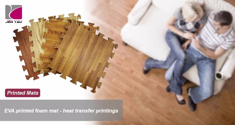 Incastro piastrelle in schiuma eva stuoia di stampa di legno per
