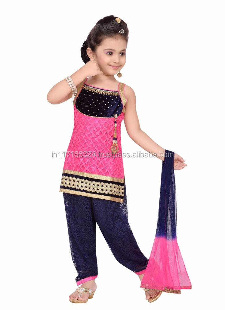 cce5f62e9 Baby Girls Wholesale Punjabi Dress Supplier In Surat - Kids Wear ...