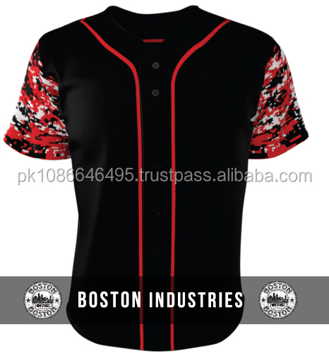 red and black baseball jersey