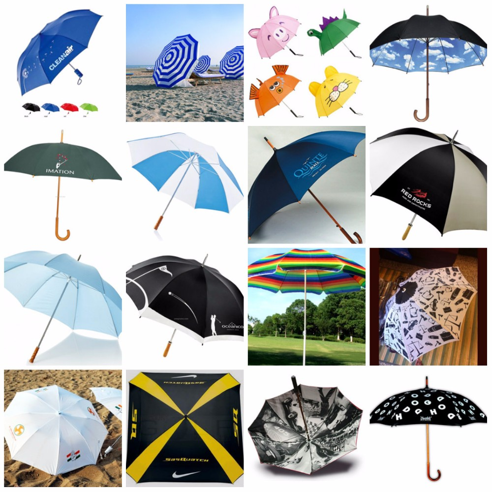 Black And Yellow Promotional Umbrella, Promotional Golf Umbrella, Hot Sale Umbrella