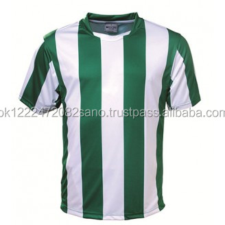 Green And White Striped Soccer Sublimation T Shirt - Buy Green And ...