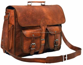 Indian Handmade Real Goat Leather Men S Cross Body Bag Office Sling Whole 2017