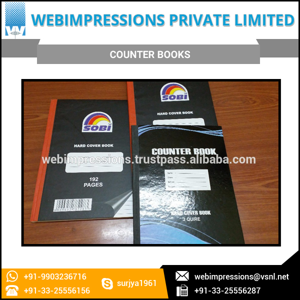 1000 GSM A4 Hardcover Book Notebook Counter Book
