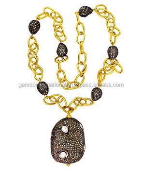 69edbac0dfa36 13.66 Carat Diamond Beads 22k Yellow Gold Chain Necklace Jewelry - Buy Gold  Pendant 22k Gold Jewelry,22 Carat Gold Jewelry,Woman Yellow Gold Jewelry ...