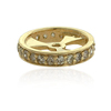9kt Solid Yellow Gold Pave Diamond Handmade Spacers Findings Jewelry