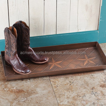 Copper Antique Indoor Metal Boot Tray Buy Indoor Plant TrayMetal Mesmerizing Decorative Boot Tray