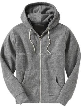 100% Polar Fleece Men's Blank Pullover And Front Zipper Hoodie ...