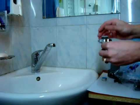 Sink leaking pedestal faucet