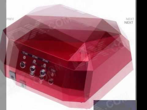 A024 Professtional Nail Dryer 12W CCFL & 24W LED UV Nail Lamp - Dark Red 100~240V / US Plug )