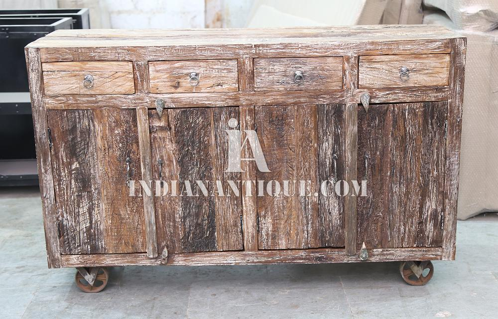 RAILWAY SLEEPER WOOD SIDEBOARD - SLEEPER WOOD FURNITURE - INDIAN SLEEPER WOOD SOLID FURNITURE