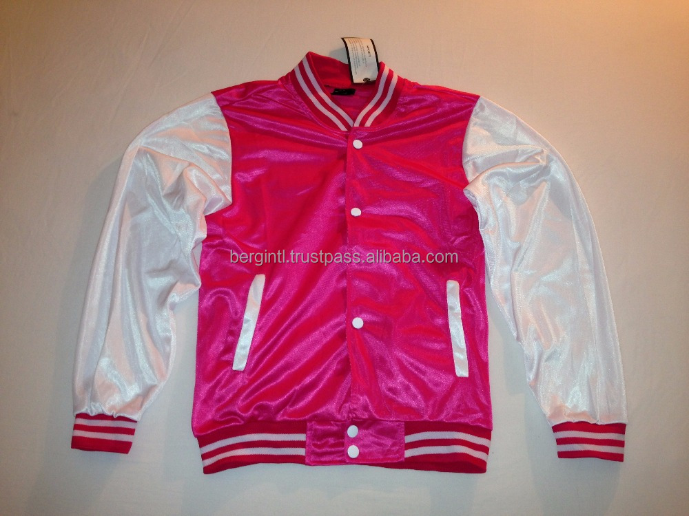 Satin Jackets Pink Satin Jackets Pink Suppliers and Manufacturers