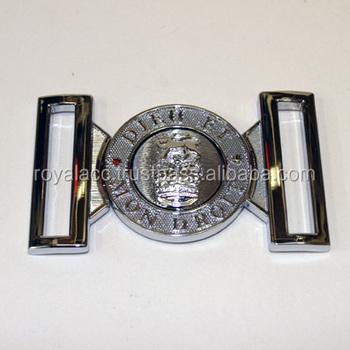e7bfda76a004 Dieu et mon droit En Métal boucle de ceinture boucle de ceinture Militaire ceinture  boucle pour