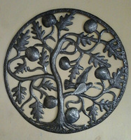 Tree of Life with Fruits and Birds Gifts From Haiti Metal Paintings Haiti For Kids Shopping In Haiti Haitian Wall Art