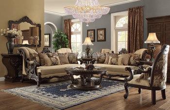 Europeon Style Wooden Sofa Set , Divan Living Room Furniture Sofa ,  European Design Luxury Home