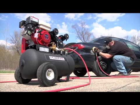 NorthStar Portable Gas-Powered Air Compressor - Honda 163cc OHV Engine, 20-Gallon Horizontal Tank, 1