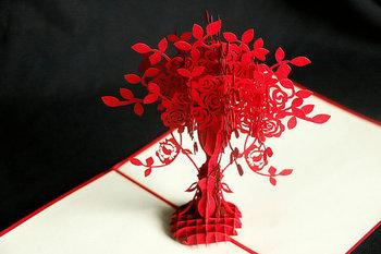vase of flower handmade pop up 3d card greeting card vietnam - 3d Greeting Cards