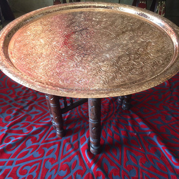 Handcrafted Moroccan Copper Tray Table Buy Handcrafted Moroccan Copper Tray Table Product On Alibabacom