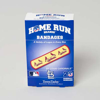BANDAGES 20CT BOX HOME RUN BRANDS -ST LOUIS CARDINALS #14015