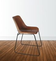 Industrial Giron Iron & Leather Dining Chair