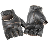 Real Leather Half Finger leather gloves