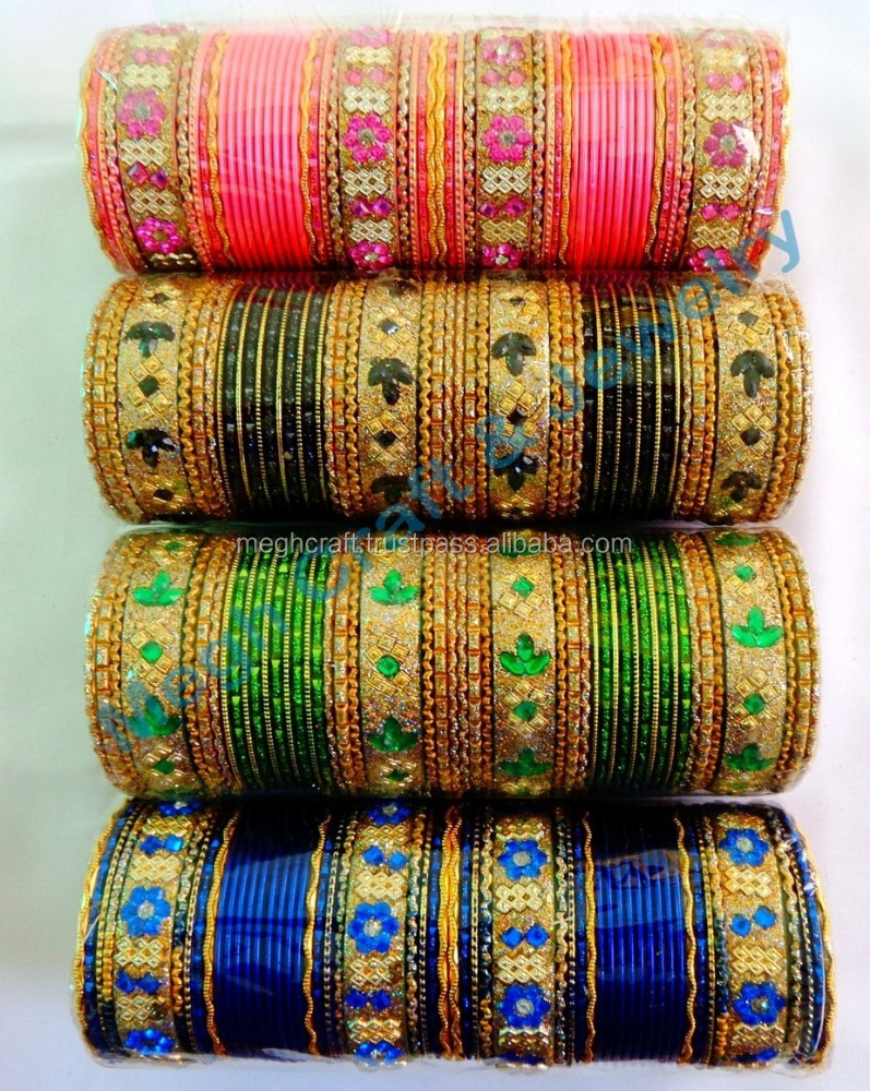 Pakistani Bridal Chuda Set-Indian Churi-Punjabi Kangan-Wedding Wear Gold Tone Red Bangle/Churi Set-Indian Bridal Costume Jewelry