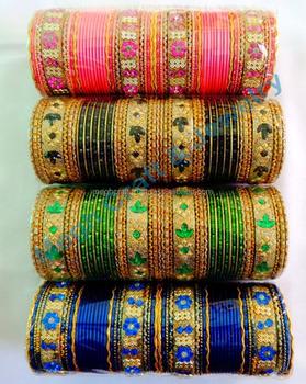 Pakistani Bridal Chuda Set Indian Churi Punjabi Kangan Wedding Wear Gold Tone Red Bangle Churi Set Indian Bridal Costume Jewelry Buy Indian