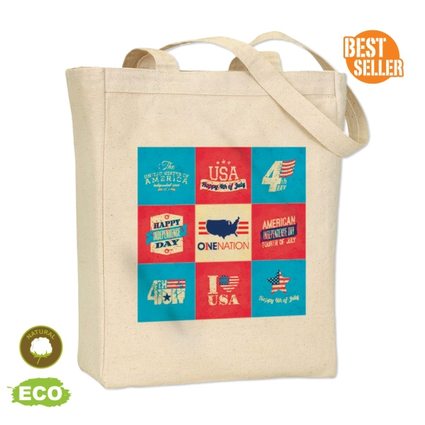 2627b97045a2 Full Color Print Big Gusset Tote Bag - Made From 100% Cotton Canvas ...