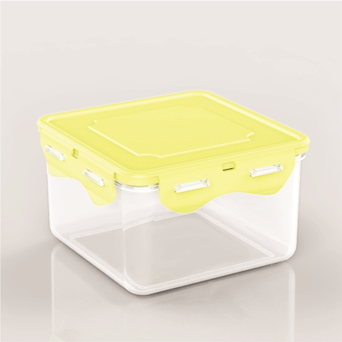 Divided plastic food storage container durable plastic containers Sina L936 yellow