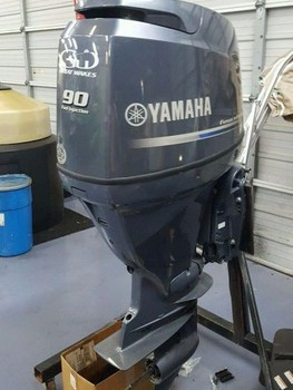 Used yamaha 90 hp four stroke outboard motor buy boat for Used 90 hp outboard motors