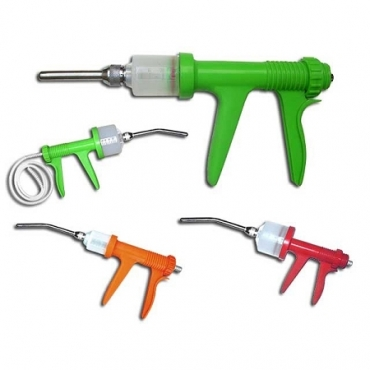 Automatic Drench Gun, Pistol Grip, Plastic Body, 30ml-70ml