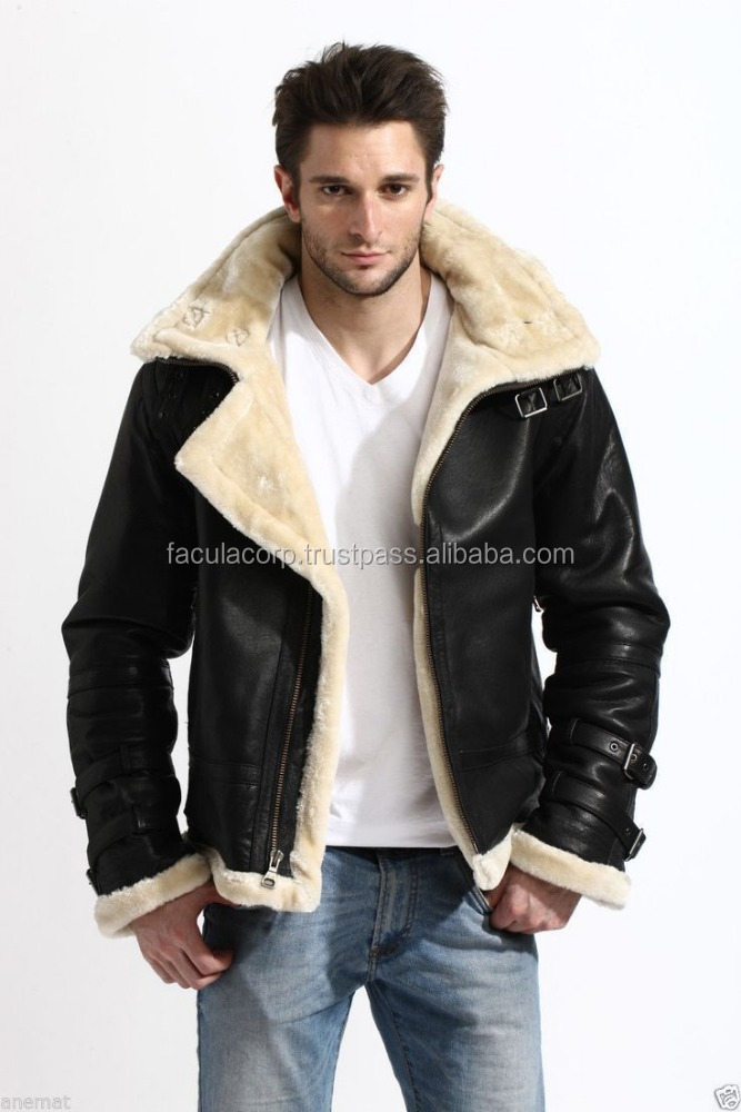 Men's Stylish Bomber Full Fur Removable Hood Genuine Cow Hide Leather Jacket FC-7847