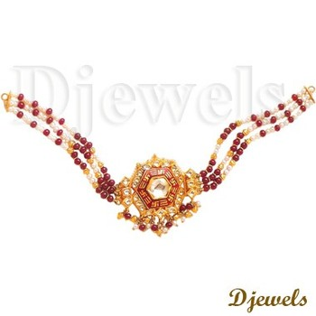 22K Gold Kundal Necklaces 22K Indian Kundan Jewellery Kundan