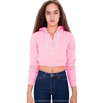 b7616fa9fa2 women top crop hoodies - OEM Wholesale New Womens Fleece Long Sleeve Crop  Top Pullover Short