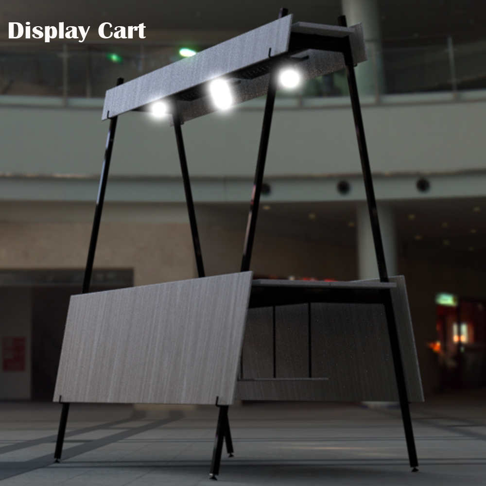 Wooden Display Cart with casters for vendor