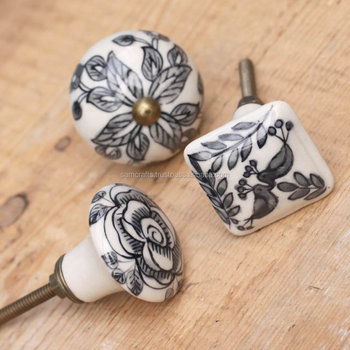 Handmade Ceramic Door Knobs/wholesale Decorative Colorful Knobs/for ...