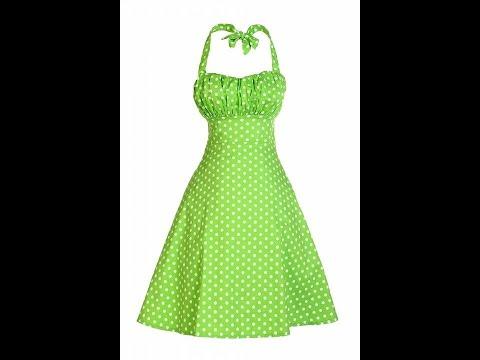 Get Quotations · V Fashion Women  39 s Rockabilly 50s Vintage Polka Dots  Halter Cocktail Swing Dress 56d36d2624ef
