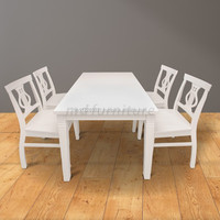 Dining Table Set MELODY - Home Furniture Senior Natural Wood