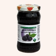 Blackberry Jam With Fruit Pieces - 360 g. Private Label Available. Made In EU