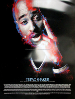 Tupac Shakur Poster with Biography (18x24) - African American