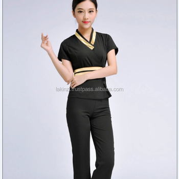Custom high quality women beauty salon uniform buy for Spa uniform uae